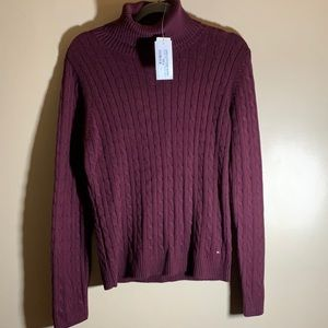Tommy Hilfiger Burgundy Red Knit Sweater NWT